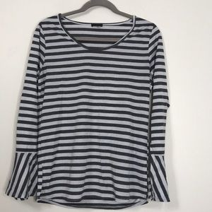 🎈Hannah Sz Small Shimmer Stripe Long Bell Sleeve